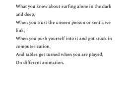 #2 untuk Make a parody/alternate lyrics for Astronaut In The Ocean oleh Deepanshu0405