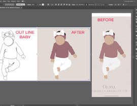 #37 for Out Line baby in Illustrator (.ai file) like my picture by nazmasultanaa01