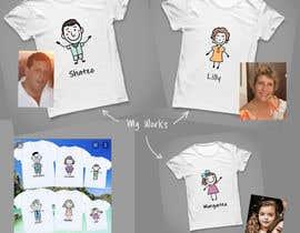 #5 untuk Family illustration/cartoon for shirt oleh andyrazi25