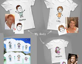 #23 untuk Family illustration/cartoon for shirt oleh andyrazi25