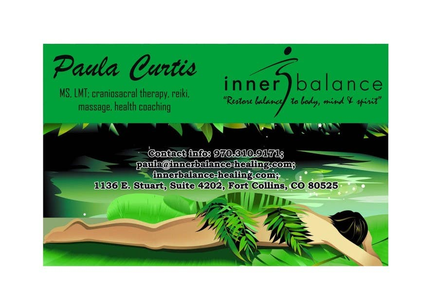 Contest Entry #                                        21                                      for                                         Design Some Business Cards for Therapeutic Massage Practice