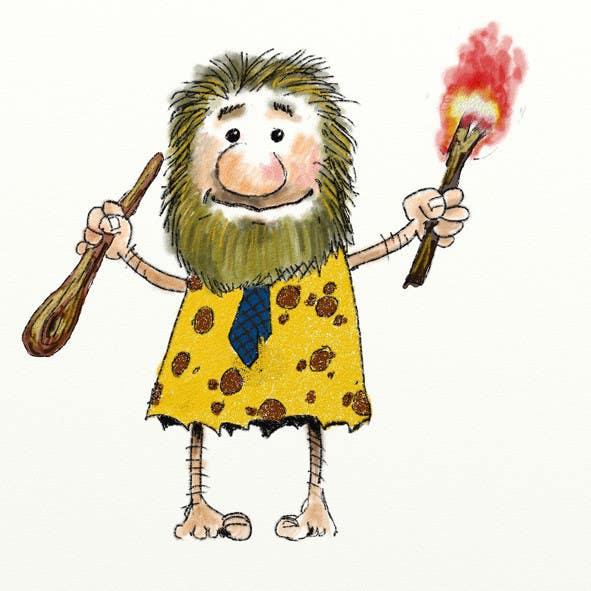 Kilpailutyö #13 kilpailussa Draw a Caveman (who is a businessman)
