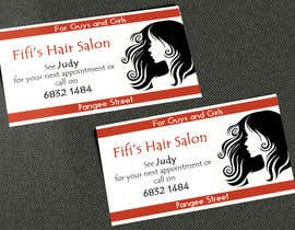 #32 untuk Design some Business Cards for hair dressing salon oleh AlexTV