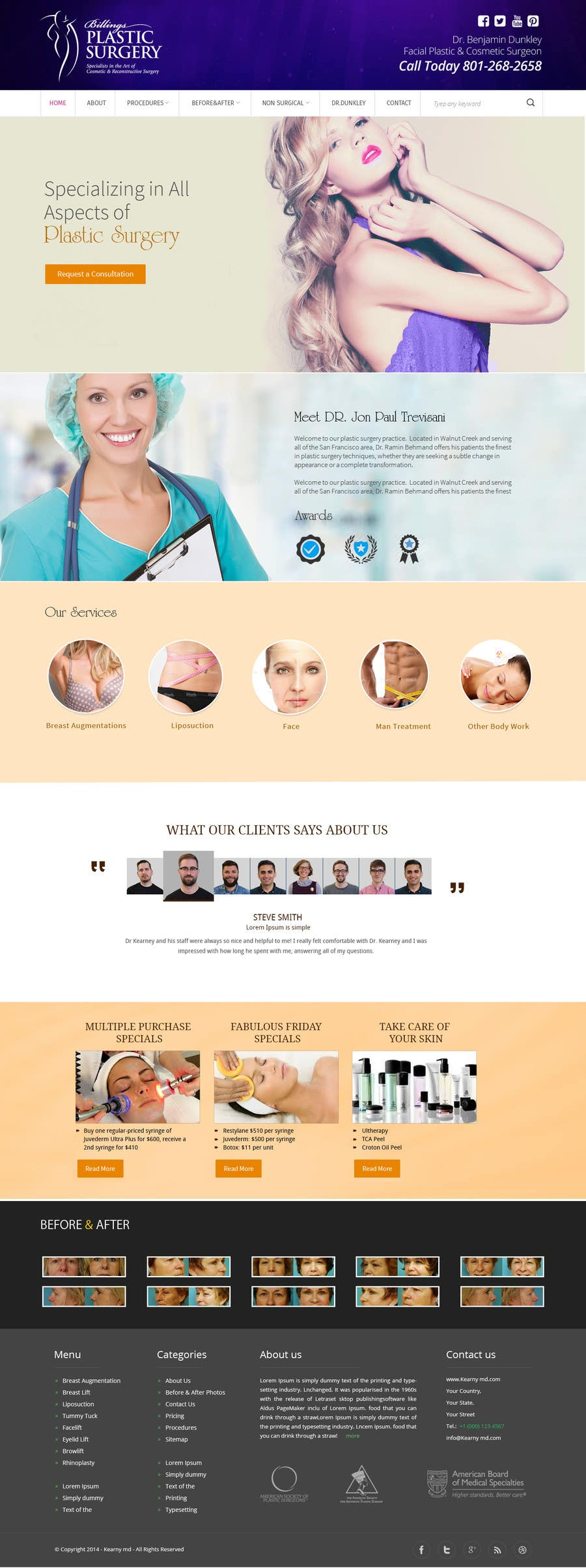 Contest Entry #                                        22                                      for                                         Design a Website Mockup for aesthetic surgery