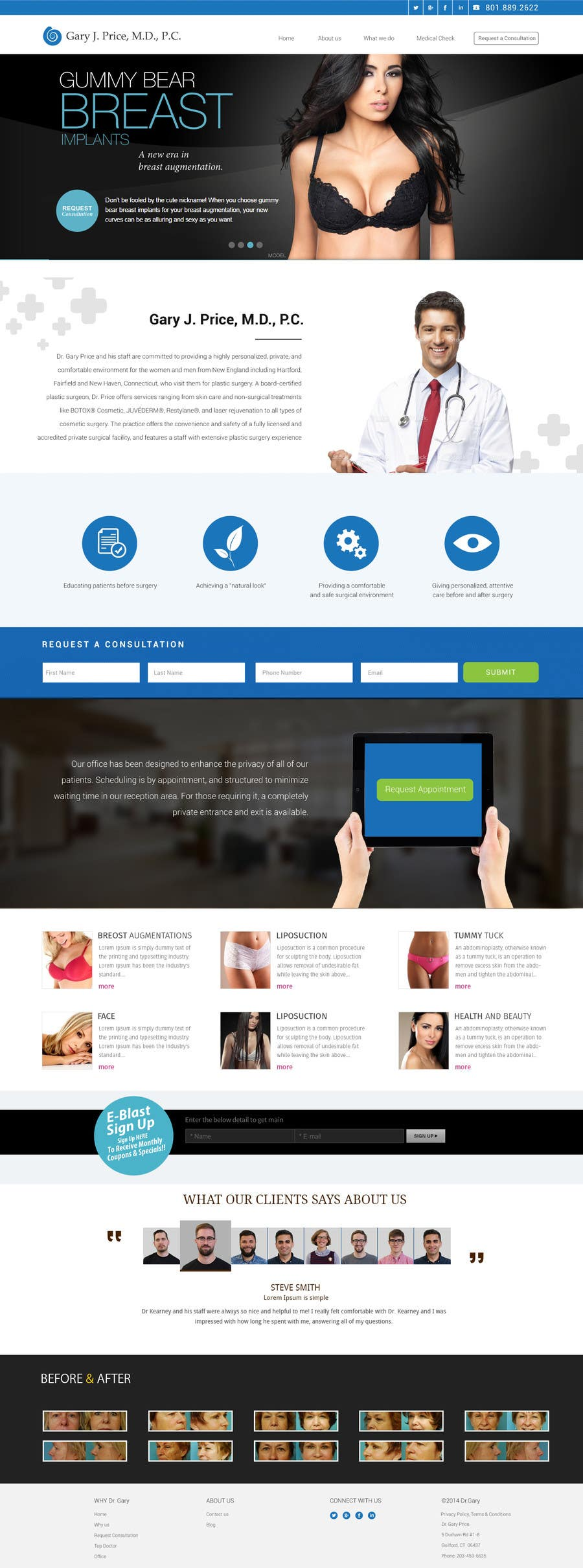 Contest Entry #                                        32                                      for                                         Design a Website Mockup for aesthetic surgery