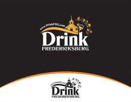 #38 untuk Design a Logo for Drink Fredericksburg, an entertainment website oleh whizzdesign