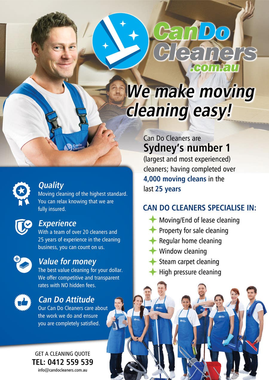Contest Entry #30 for Design a flyer for a house cleaning company