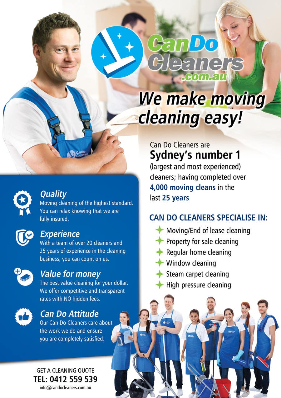 design a flyer for a house cleaning company lancer 33 for design a flyer for a house cleaning company by ssergioacl