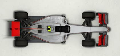 #27 untuk Need TOP view image of Formula 1 Racing Car oleh Saranageh90