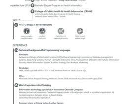 Nro 1 kilpailuun design Infographic CV käyttäjältä DeepakKL555