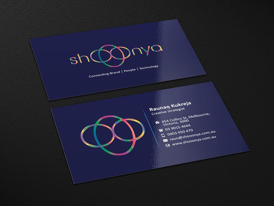 Contest Entry #                                        28                                      for                                         Design some Business Cards for a creative/technology startup