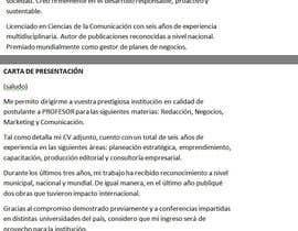 Nro 1 kilpailuun Redactar 4 párrafos para vender perfil profesional käyttäjältä luismagnani