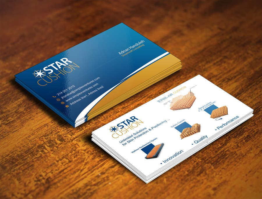 Contest Entry #                                        119                                      for                                         Design some Business Cards for Star Cushion