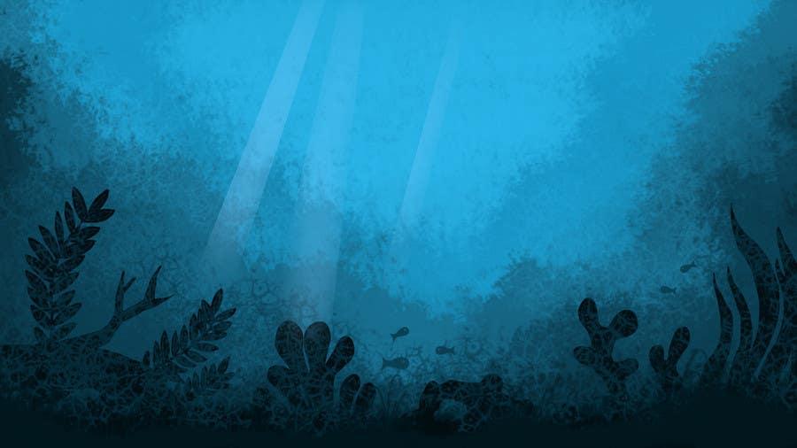 Kilpailutyö #22 kilpailussa under sea background
