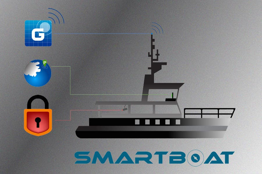 Proposition n°                                        39                                      du concours                                         Illustration Design for SmartBoat