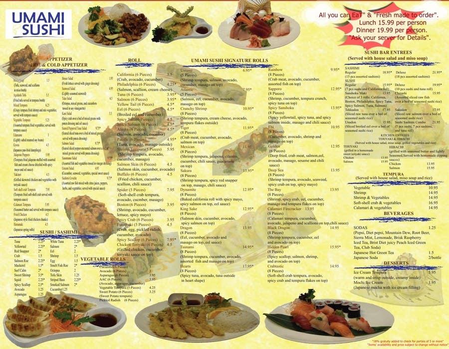 Contest Entry #                                        10                                      for                                         Restaurant Menu Design