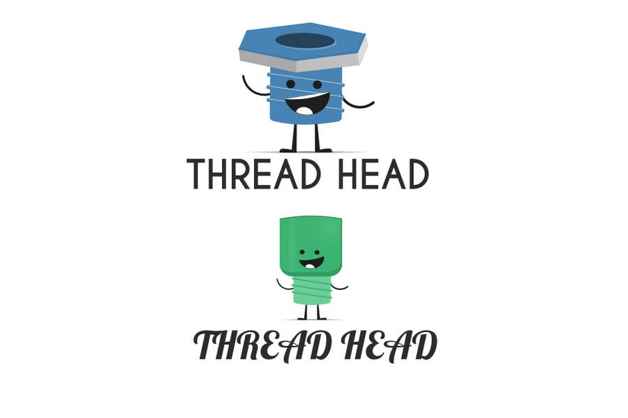 Proposition n°                                        82                                      du concours                                         Character design for Thread Head Company mascots
