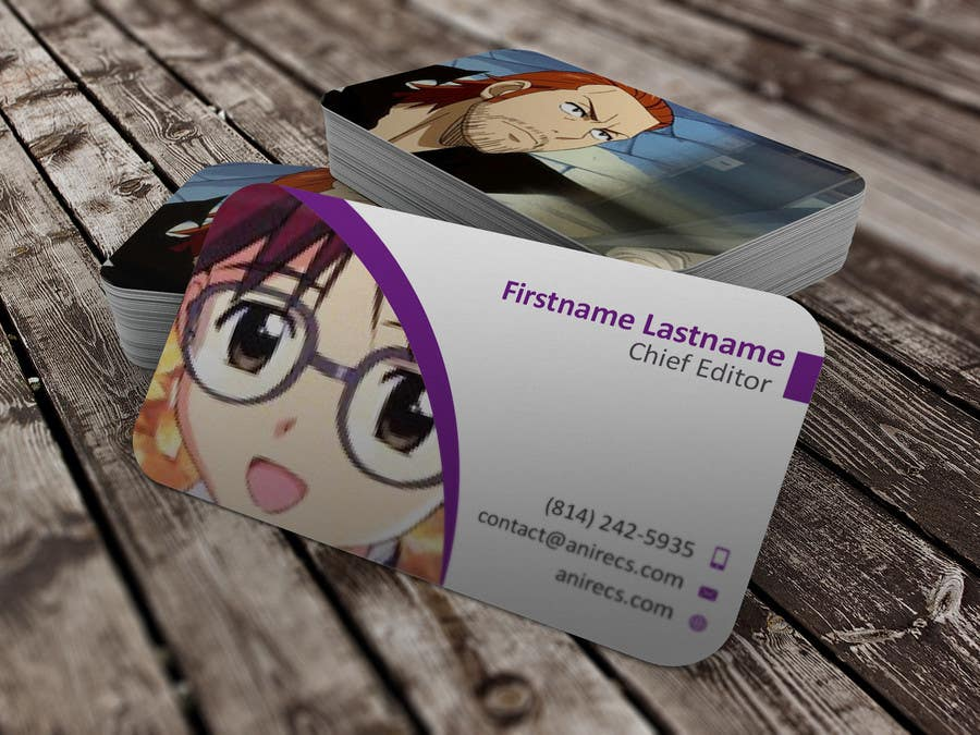 Contest Entry #35 for Design some Business Cards for anime site