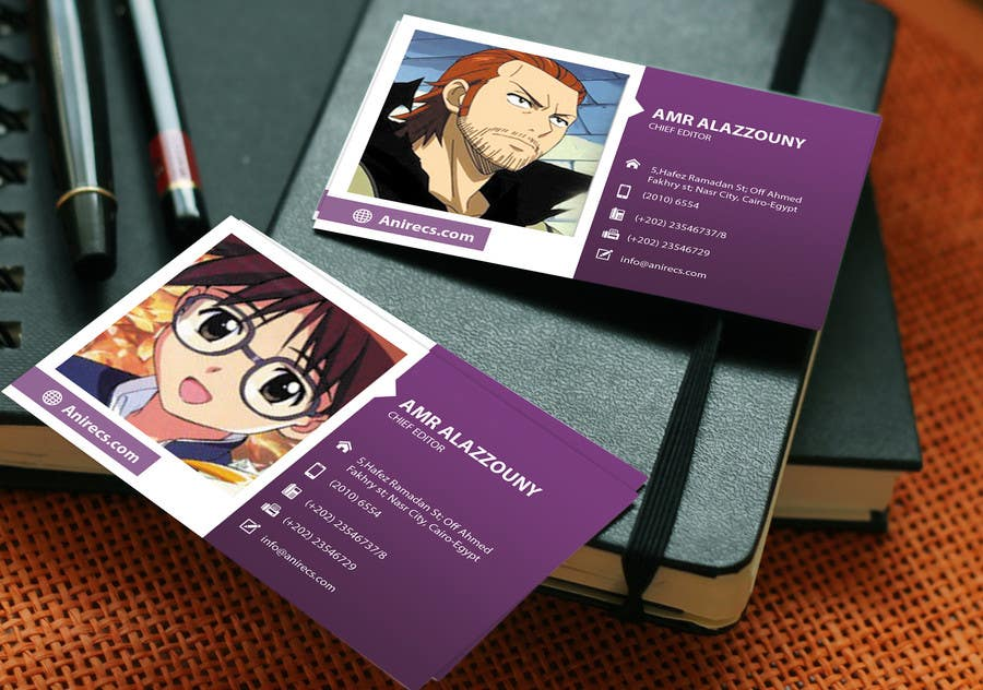 Contest Entry #                                        23                                      for                                         Design some Business Cards for anime site