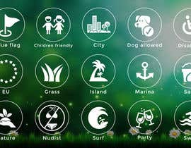 #21 untuk Design 15 Icons for a beach website oleh adilansari11