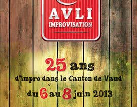 #28 para Design a Flyer for Theater Improv por marchitetto85
