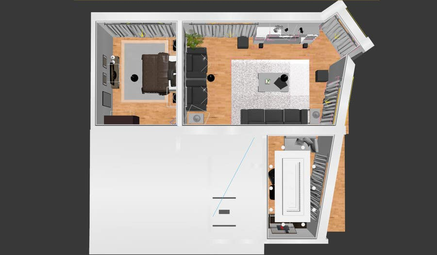 Konkurrenceindlæg #34 for Do some 3D Modelling for illustrating an appartment / condo for sale