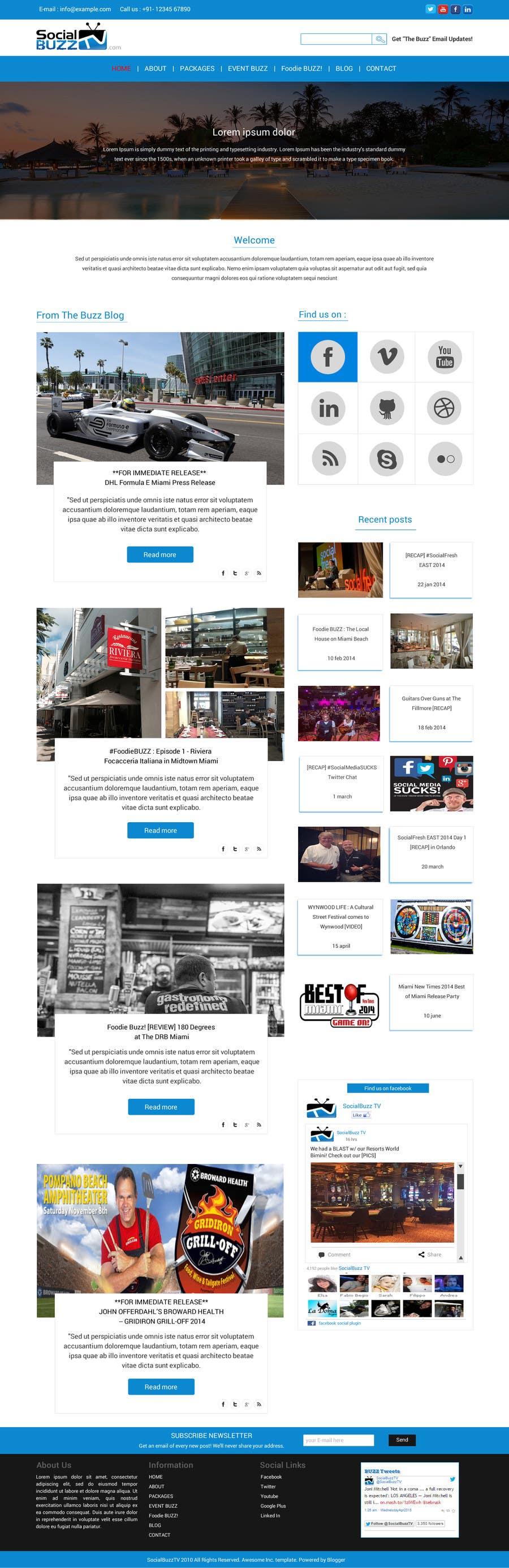 Contest Entry #                                        8                                      for                                         Design a Website Mockup for SocialBuzzTV.com