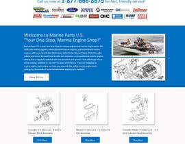designcreativ tarafından Design a Website Mockup for Marine Parts U.S. için no 8