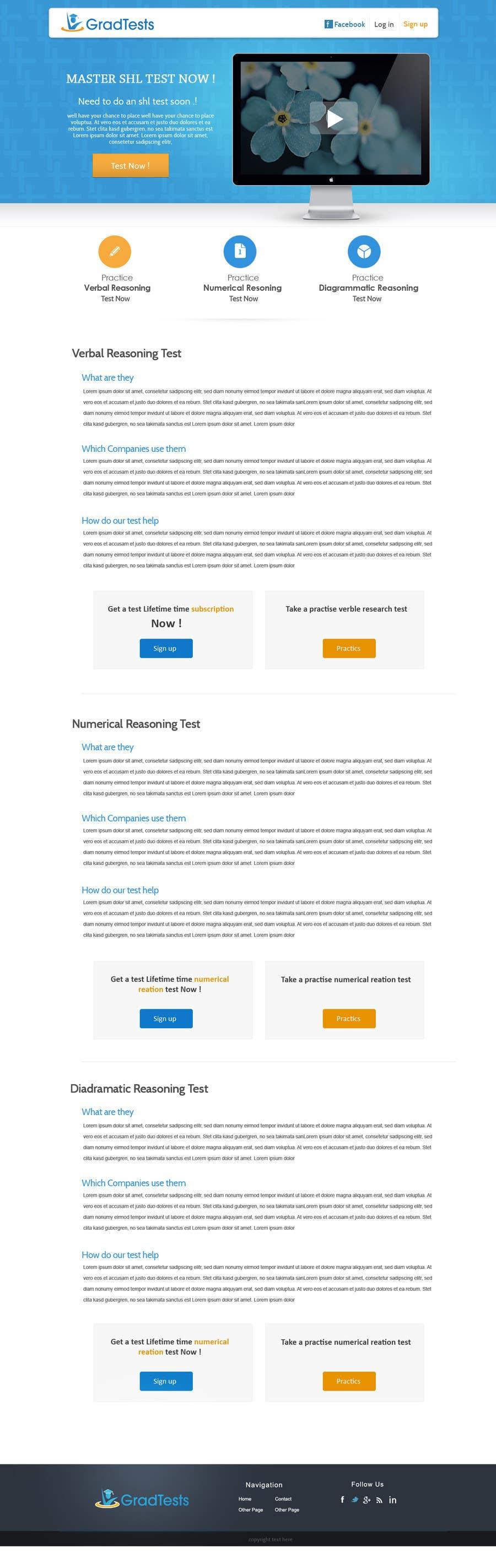 Inscrição nº                                         9                                      do Concurso para                                         Design a Website Mockup for Practice IQ Test Business