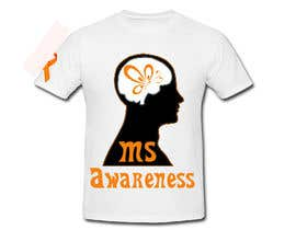 #8 para Design a T-Shirt for MS Awareness por LimeByDesign