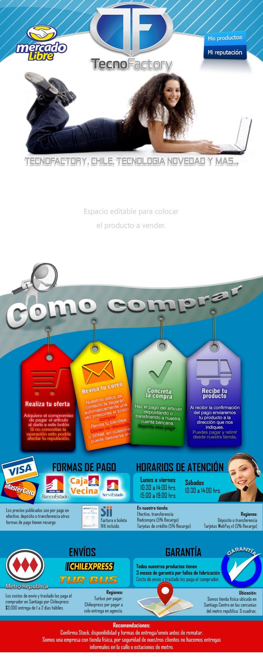 Konkurrenceindlæg #                                        5                                      for                                         Rediseño Plantilla Mercadolibre Htm