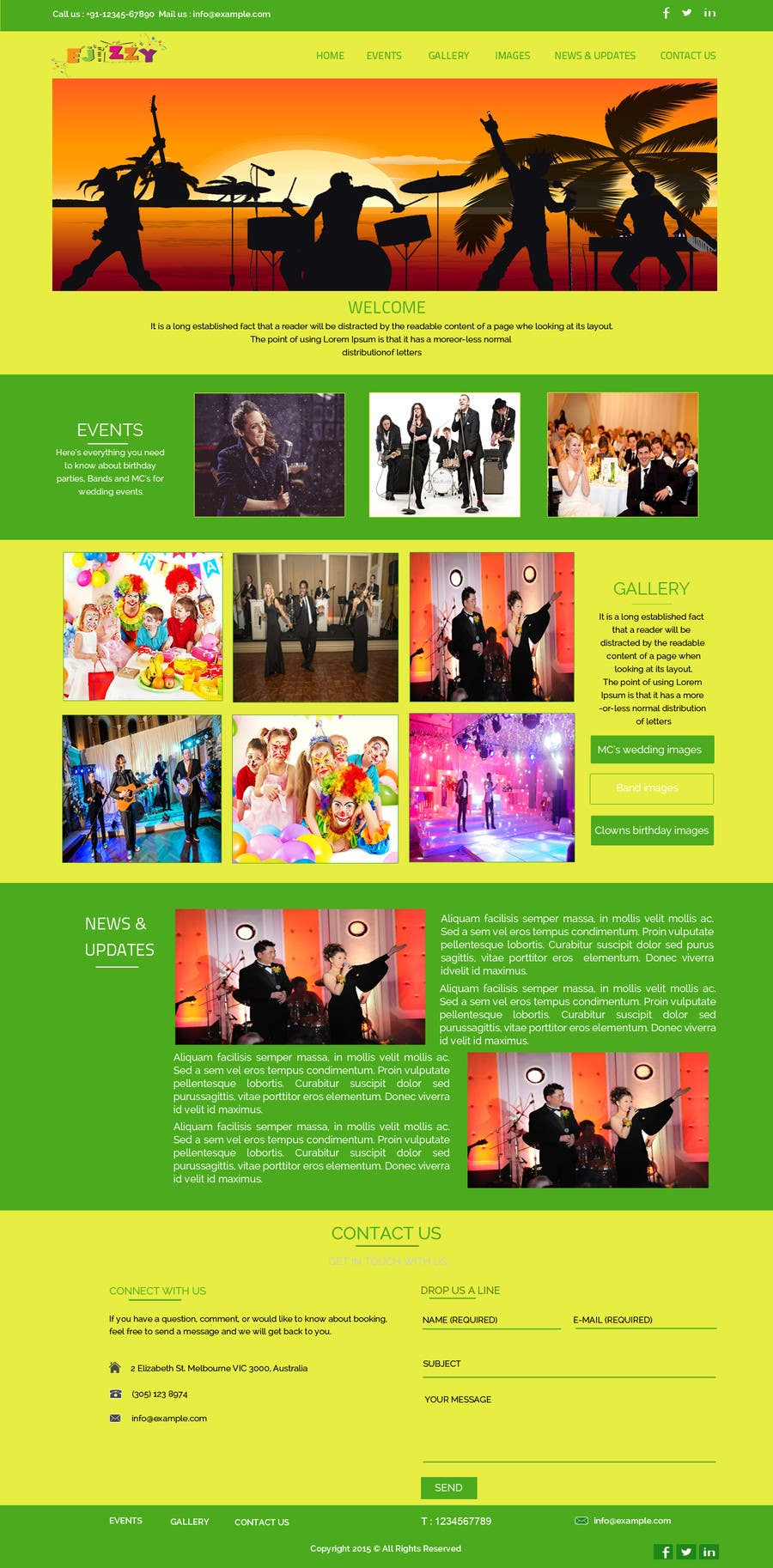 Konkurrenceindlæg #                                        12                                      for                                         Design a Website Mockup for Entertainment Industry