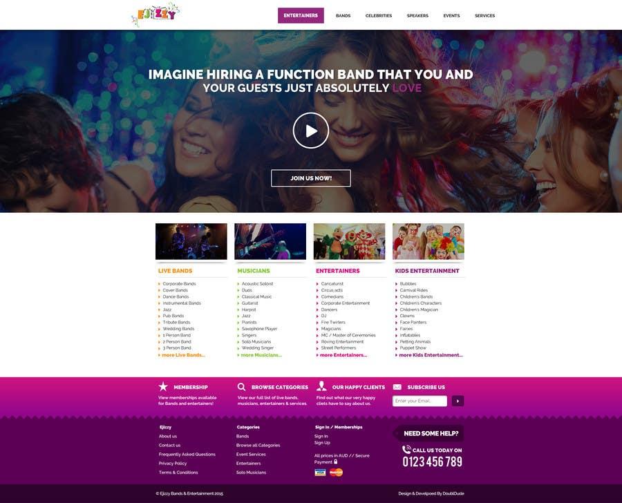 Konkurrenceindlæg #                                        3                                      for                                         Design a Website Mockup for Entertainment Industry