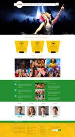 #18 cho Design a Website Mockup for Entertainment Industry bởi logodesire
