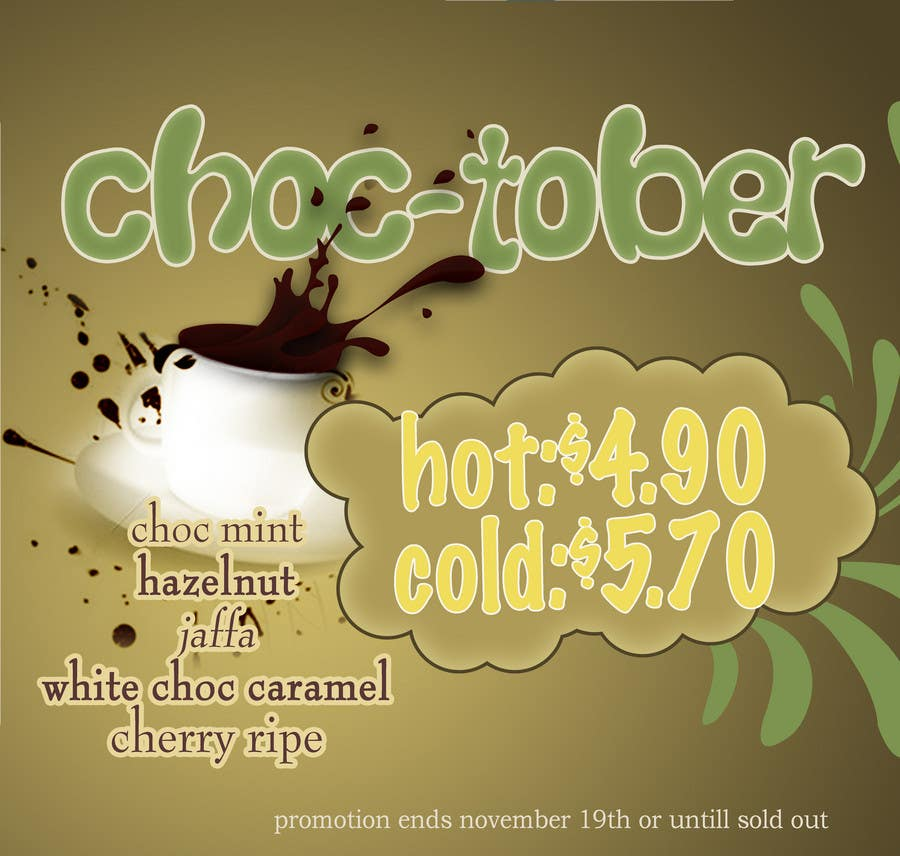 Bài tham dự cuộc thi #                                        67                                      cho                                         Poster Design for a Chocolate promotion