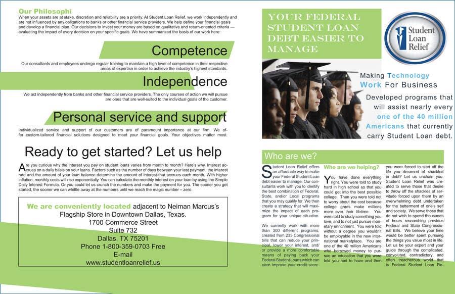 Bài tham dự cuộc thi #                                        45                                      cho                                         Create a Brochure Student Loan Relief, Inc