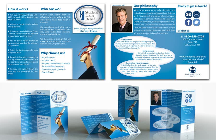 Bài tham dự cuộc thi #                                        26                                      cho                                         Create a Brochure Student Loan Relief, Inc