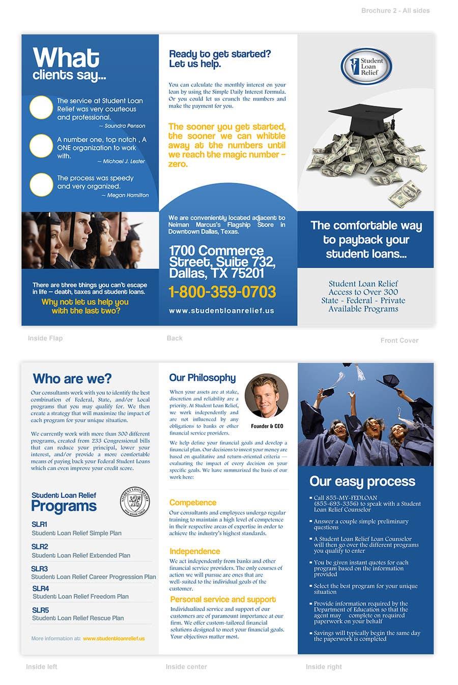 Bài tham dự cuộc thi #                                        53                                      cho                                         Create a Brochure Student Loan Relief, Inc