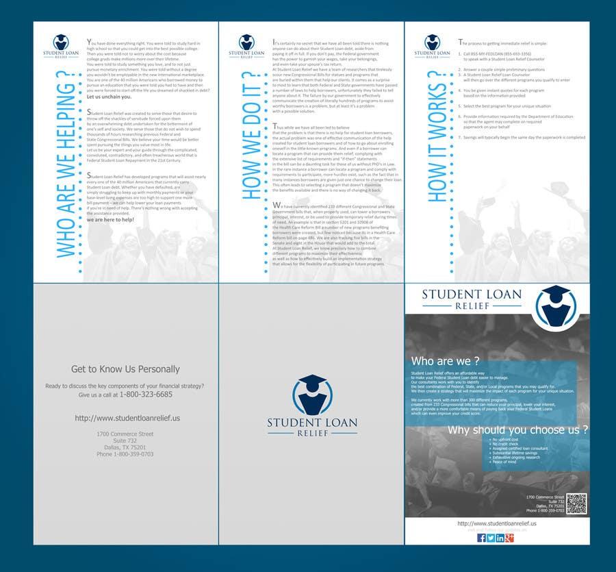 Bài tham dự cuộc thi #                                        13                                      cho                                         Create a Brochure Student Loan Relief, Inc