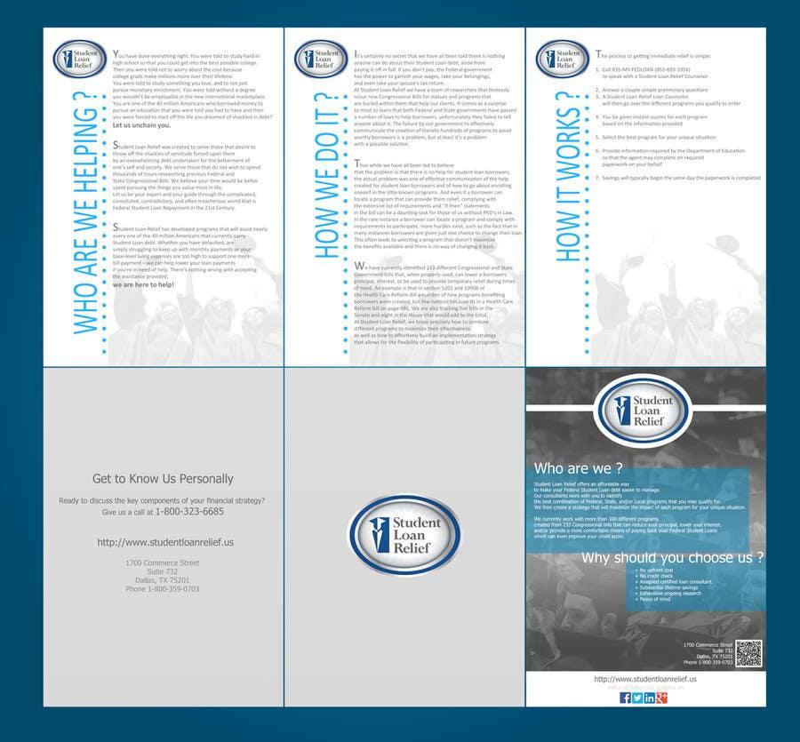 Bài tham dự cuộc thi #                                        14                                      cho                                         Create a Brochure Student Loan Relief, Inc