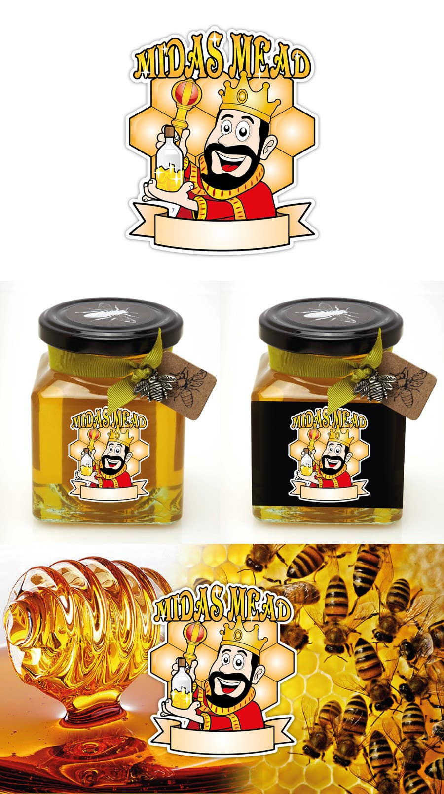 Konkurrenceindlæg #                                        14                                      for                                         Design a Logo for an Alcoholic Honey Drink Company