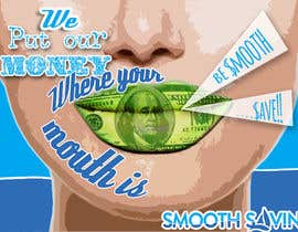 "#19 para Design a postcard with theme ""We put our money where your mouth is!"" por FabiaZ"