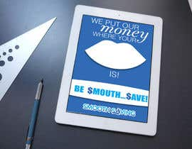 "#11 untuk Design a postcard with theme ""We put our money where your mouth is!"" oleh eirinigj"