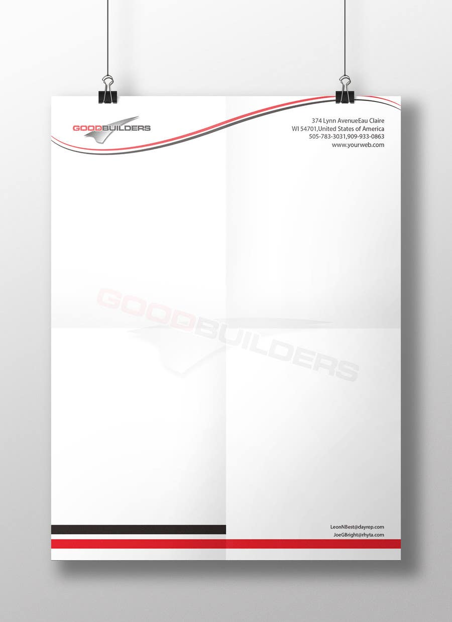 Kilpailutyö #77 kilpailussa Design me a Letter Head!