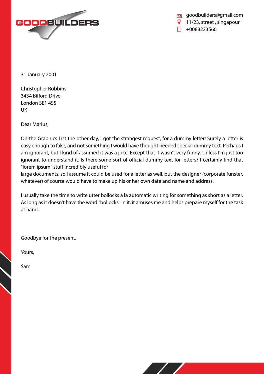 Penyertaan Peraduan #37 untuk Design me a Letter Head!