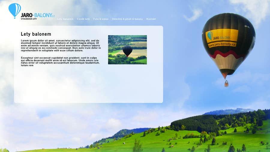 Konkurrenceindlæg #                                        2                                      for                                         Webdesign for website about balloon flights