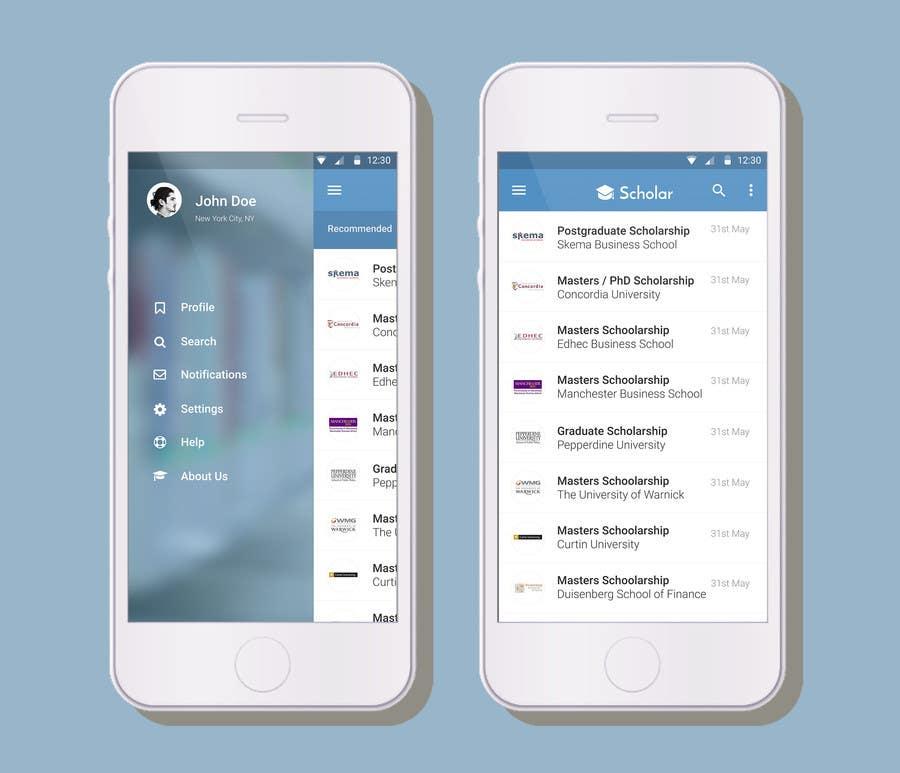 Konkurrenceindlæg #                                        21                                      for                                         Design an App Mockup for Information Listing search app