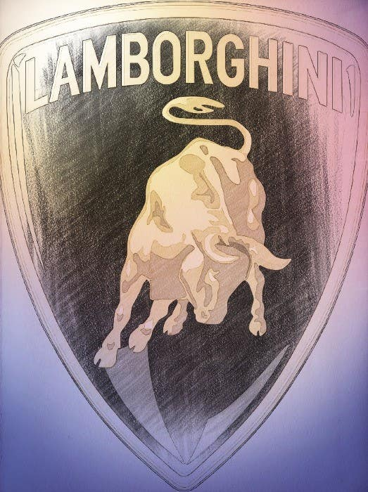 Kilpailutyö #6 kilpailussa Illustrate a Painted Lamborghini Logo Design