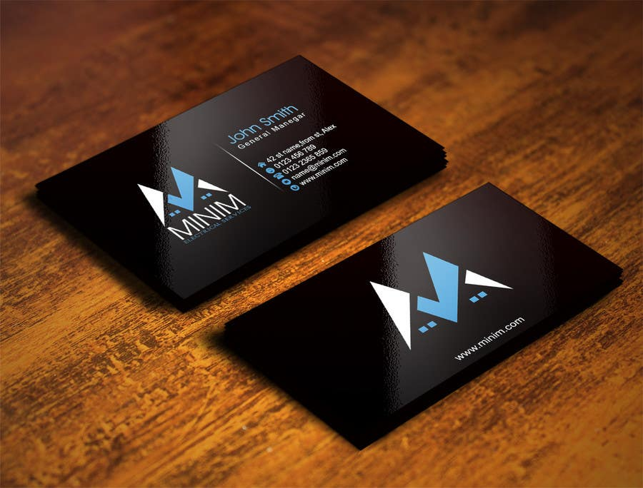 Konkurrenceindlæg #                                        49                                      for                                         Design some Business Cards for New Electrical Business
