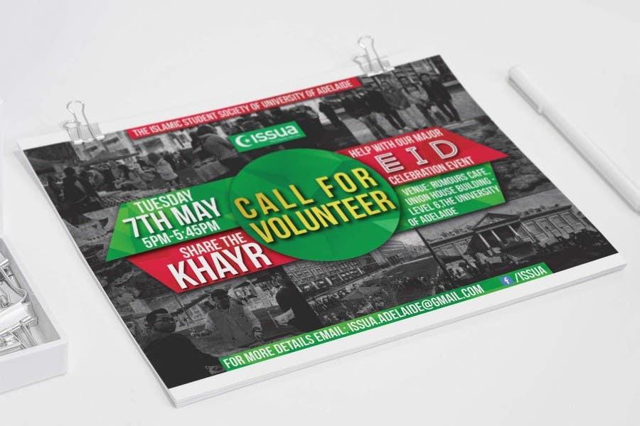 Penyertaan Peraduan #14 untuk 'Call for Volunteers' - Islamic Flyer